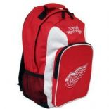 Detroit Red Wings Backpack, Red & White, Embroidered Logos